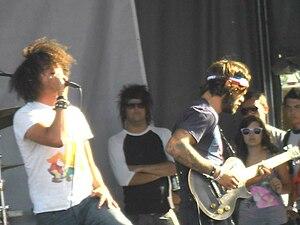 I Set My Friends on Fire - Matt Mehana with Joe Nelson, at Vans Warped Tour 2011