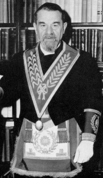 Israel Brodie - Sir Israel Brodie as Grand Chaplain of the United Grand Lodge of England