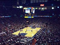 The arena during a New Jersey Nets basketball game.