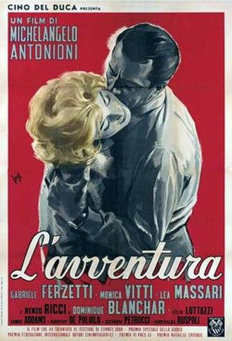 L'Avventura - Original Italian film poster