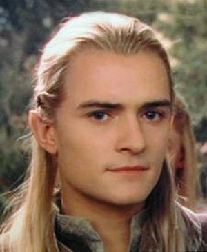 Elves in fiction - The archer Legolas Greenleaf, here portrayed by Orlando Bloom in ''The Lord of the Rings'' film trilogy, is arguably Tolkien's best known elf.