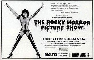 The Rocky Horror Picture Show - London release poster for 14 August 1975 premiere