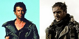 Max Rockatansky - Mel Gibson (left) and Tom Hardy (right) as Max