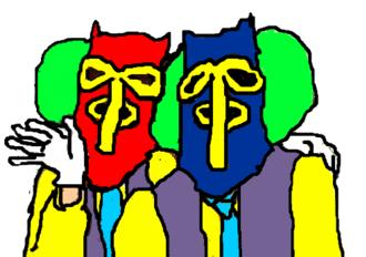 Colombian folklore - Carnaval de Barranquilla Marimonda characters.