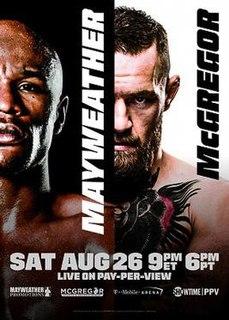 Floyd Mayweather Jr. vs. Conor McGregor 2017 boxing match