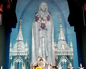 Basilica of Our Lady of the Mount, Bandra - Statue of Mother Mary outside Mount Mary Church, Bandra.