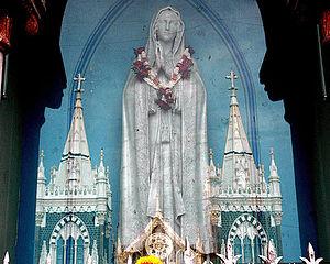 Bandra - Statue of Mother Mary at Mount Mary Church, Bandra.