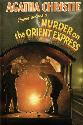 Murder on the Orient Express - Dust-jacket illustration of the first UK edition