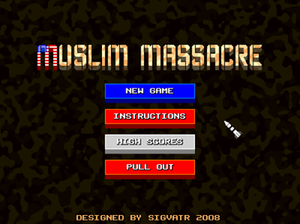 Muslim Massacre (video game) - Image: Muslim Massacre Title Screen
