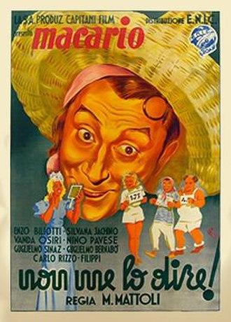 Non me lo dire! - Italian theatrical release poster