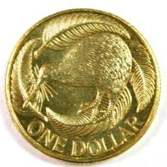 Dollar - A New Zealand one-dollar coin