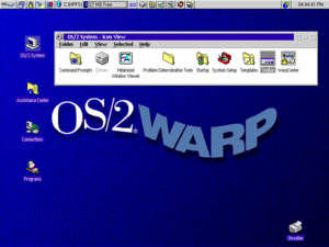 OS/2 - OS/2 Warp 4 desktop after installation
