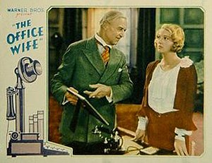 The Office Wife - Cinema card showing Hobart Bosworth and Dorothy Mackaill