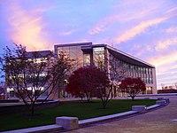 Sunset over the Olin Center.