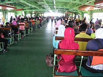 Rapid Ferry - A typical passenger deck
