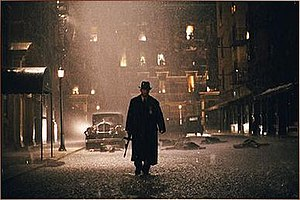 Road to Perdition - Cinematographer Conrad Hall set up atmospheric lighting similar to that found in the paintings of Edward Hopper