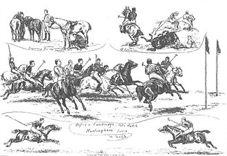 Oxford University Polo Club - Drawing of the Varsity Match played in 1879.