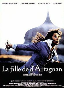 Film poster showing Sophie Marceau fighting with a sword