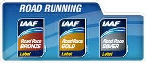 IAAF Road Race Label Events - The official IAAF Road Race Label logos.