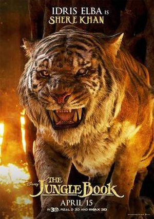 Shere Khan - Shere Khan in promotional material for The Jungle Book (2016)
