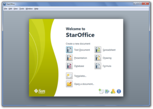 StarOffice 9.1.0 Start Center.png