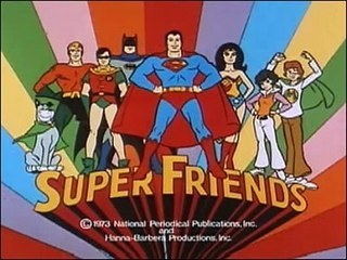 <i>Super Friends</i> American animated television series about a team of superheroes, which ran from 1973 to 1986