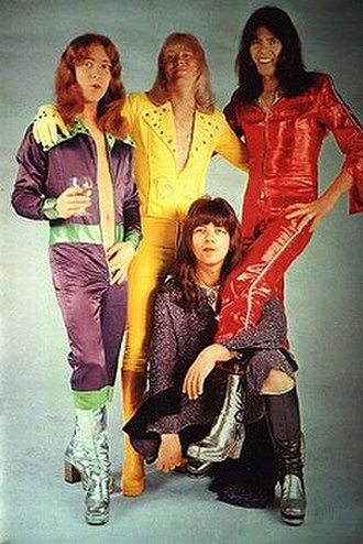 The Sweet - The Sweet in the mid-1970s. Clockwise from top left: Steve Priest, Brian Connolly, Mick Tucker, Andy Scott.