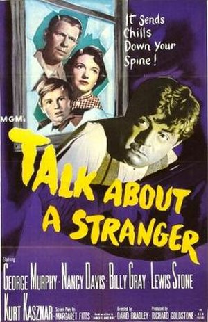 Talk About a Stranger - Theatrical release poster