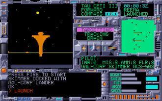 Tau Ceti (video game) - Typical gameplay in Tau Ceti, taken from the Atari ST version.