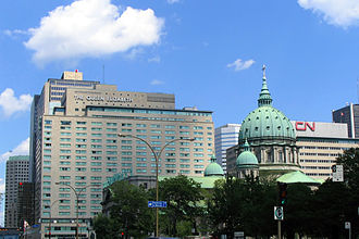Queen Elizabeth Hotel - Queen Elizabeth Hotel, with Mary, Queen of the World Cathedral in the foreground