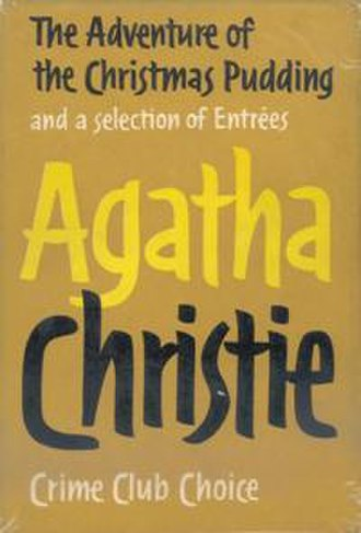 The Adventure of the Christmas Pudding - Dust-jacket illustration of the first UK edition
