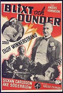 <i>Thunder and Lightning</i> (1938 film) 1938 film by Anders Henrikson