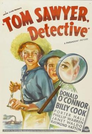 Tom Sawyer, Detective (film) - Theatrical release poster