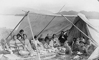 History of British Columbia - Tsimshian people c. 1890, Metlakatla.