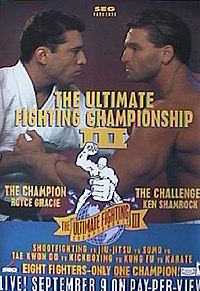 A poster or logo for UFC 3: The American Dream.