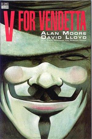 V for Vendetta - V for Vendetta collected edition cover, art by David Lloyd