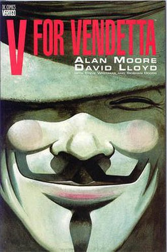 V for Vendetta - V for Vendetta collected edition cover, art by David Lloyd
