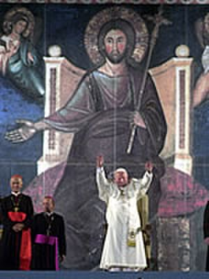 Great Jubilee - Pope John Paul II presides at the Vespers service during World Youth Day, 2000.