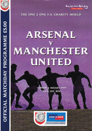 1999 FA Charity Shield - The match programme cover.