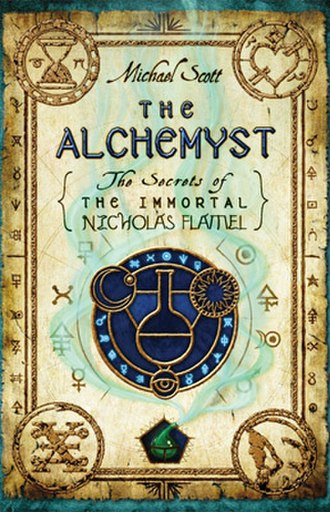 The Alchemyst: The Secrets of the Immortal Nicholas Flamel - Above is the First Edition USA cover of The Alchemyst: The Secrets of the Immortal Nicholas Flamel