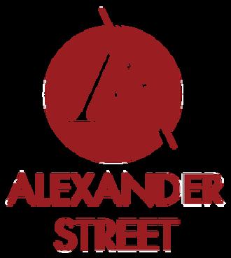 Alexander Street Press - Image: Alexander Street Press logo name under low resolution