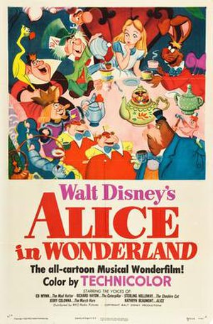 Alice in Wonderland (1951 film) - 1951 original theatrical release poster