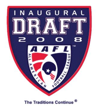 All American Football League - Inaugural AAFL Draft logo