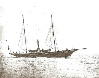 Steam yacht - Amazon (built 1885) pictured in 1889