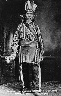 Andrew Blackbird American tribe leader, historian and writer
