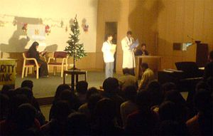 Christian Medical College, Ludhiana - Students put up a play during Christmas