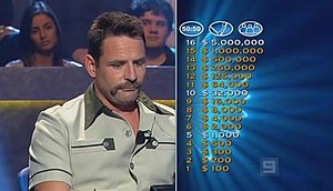 Who Wants to Be a Millionaire? (Australian game show) - Contestant (Henry Kiss) and the 16 questions money tree