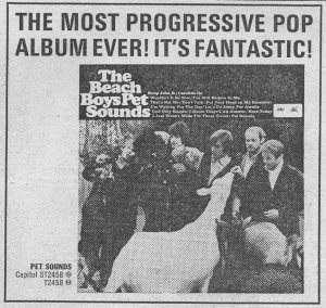 Brian Wilson is a genius - Image: Beach Boys Pet Sounds advertisement 1966