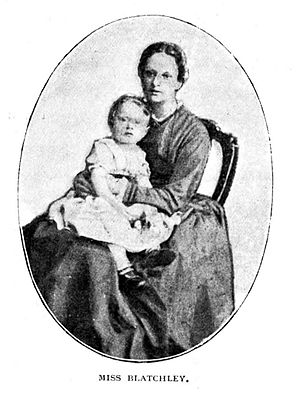 Emily Blatchley - Blatchley holding one of Hudson Taylor's children