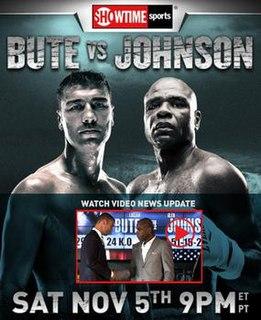 Lucian Bute vs. Glen Johnson Boxing competition